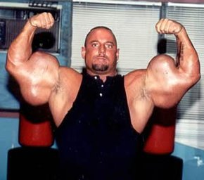 The man who's arms exploded.