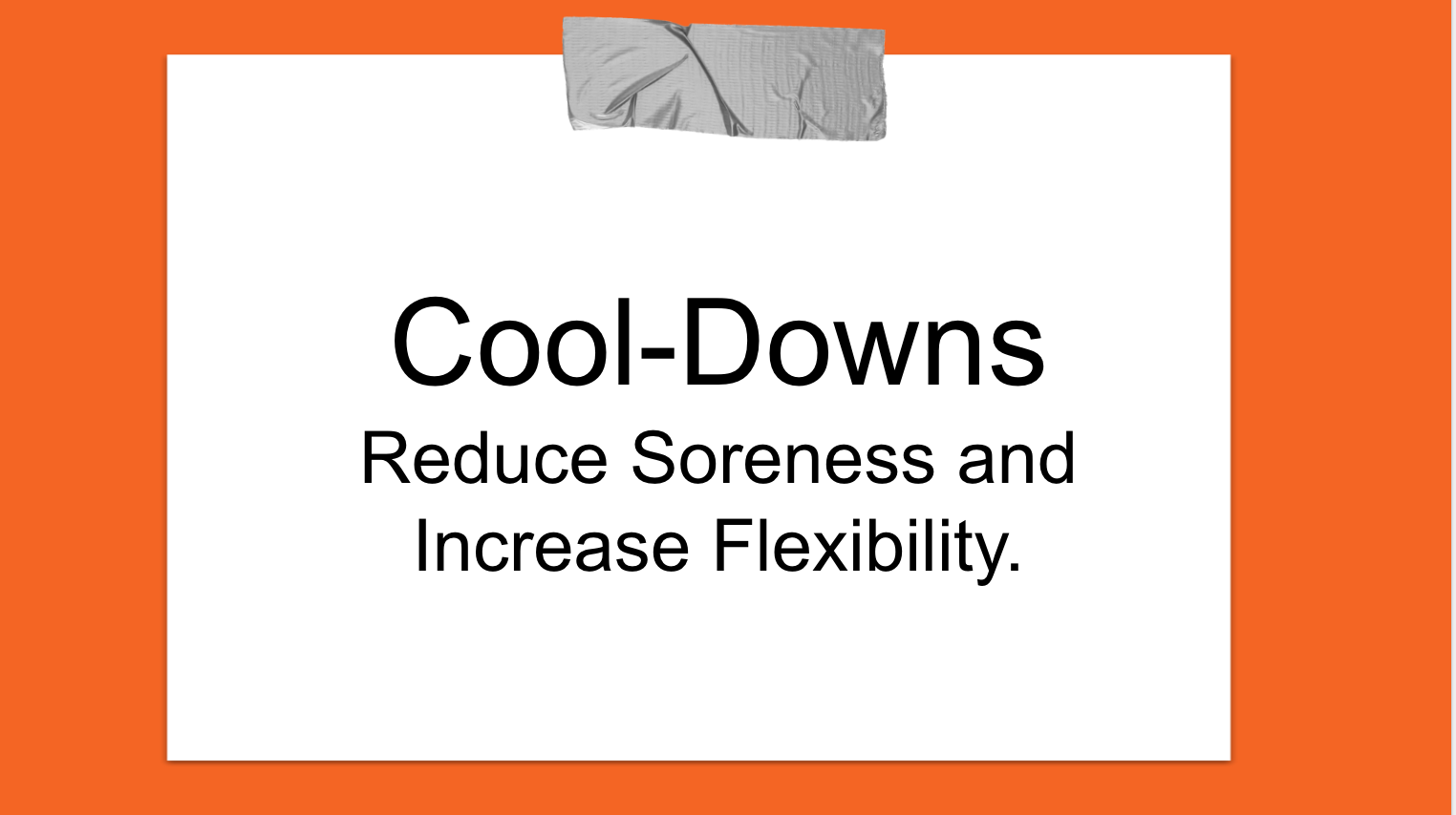 Cool- Downs M Factor Fitness