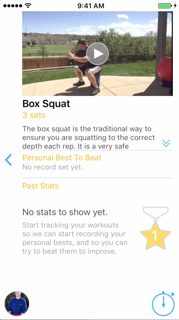 Every exercise has a picture, short video and description.